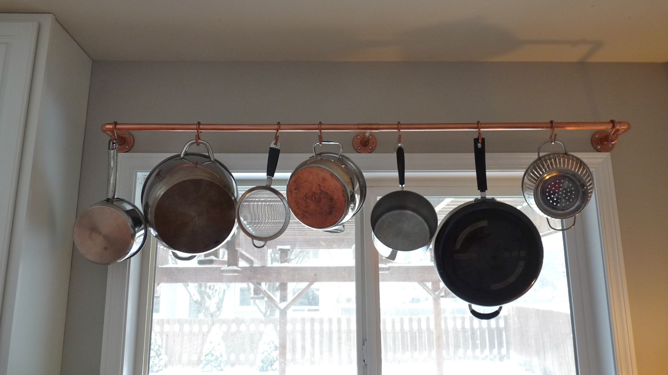 pots kitchens with favorite along kitchen wall ikea mounted hilarious racks enclume in lighted wells rack as for plus hooks zn pan dutch pans sliding also canning c lummy s pot